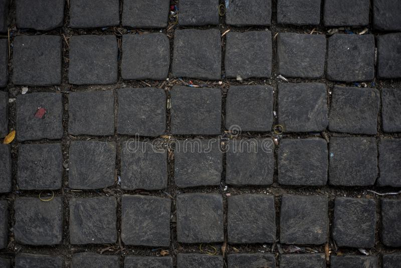 Cobbles in a street of Hoi An royalty free stock photos