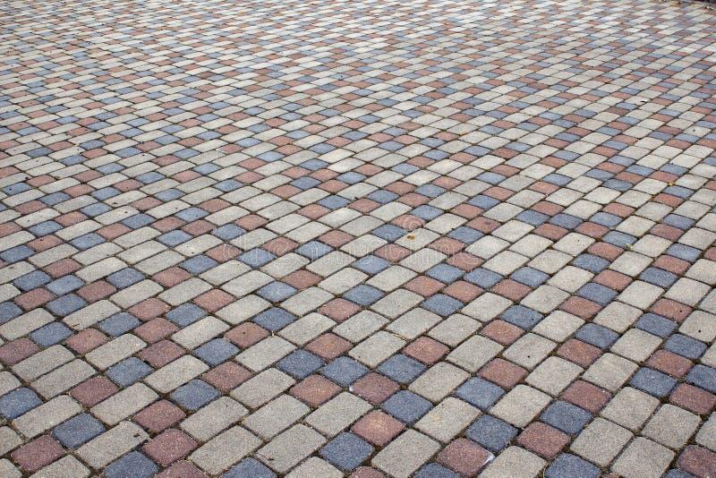 cobbles Teste padrão de pedra da estrada foto de stock royalty free