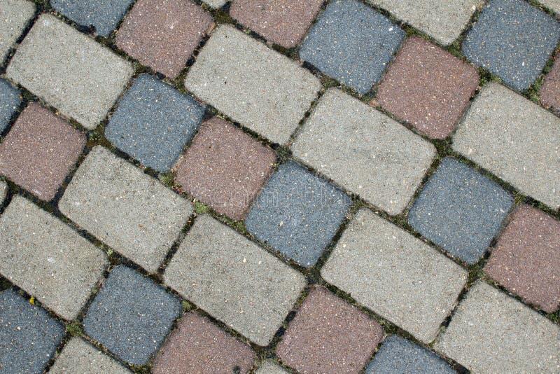 cobbles Teste padrão de pedra da estrada fotos de stock