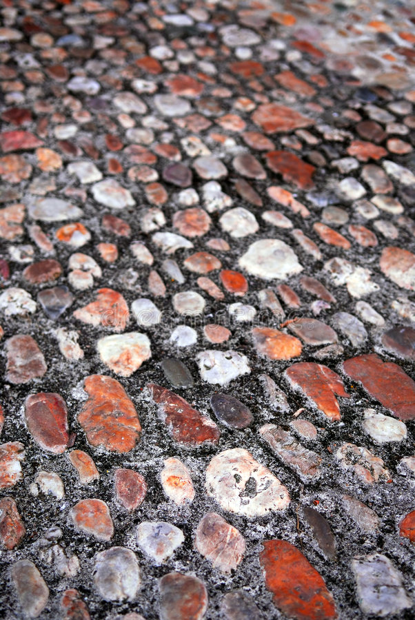 Cobblestone background stock images