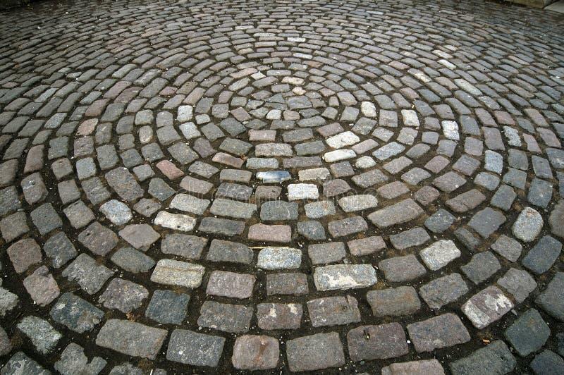 Cobblestone Circle Pattern royalty free stock image
