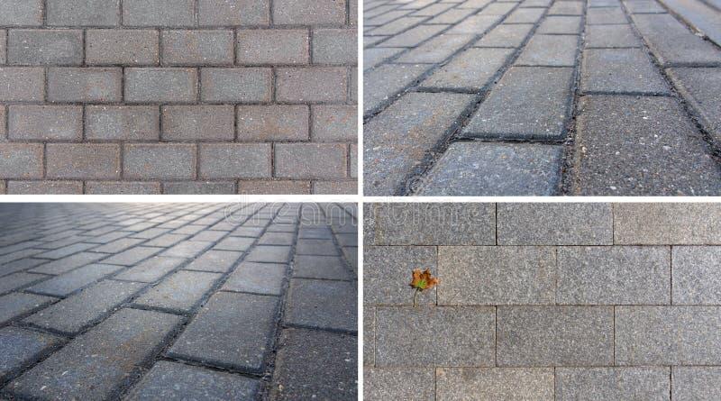 cobblestone Fije a Gray Paving Tile, calle del guijarro Textura para el fondo imagen de archivo