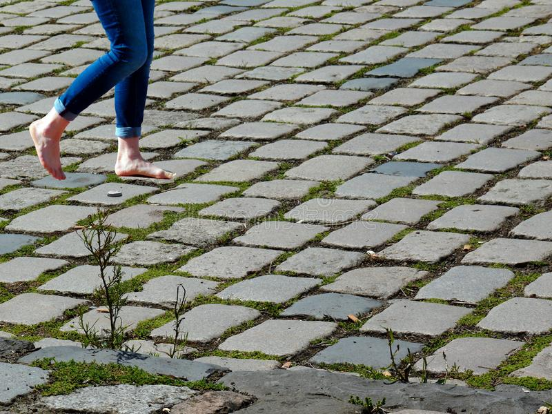 Cobblestone, Grass, Road Surface, Plant Free Public Domain Cc0 Image