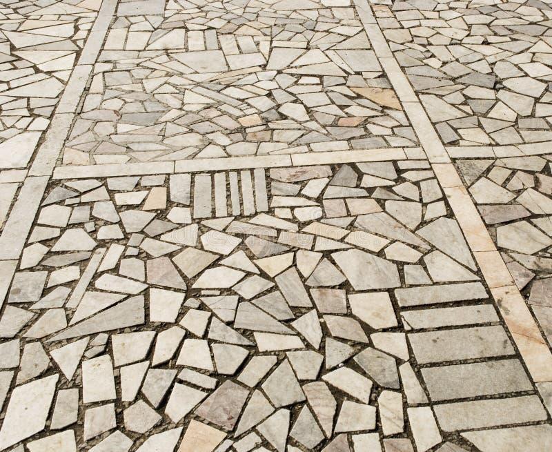 Cobblestone pavement stock images
