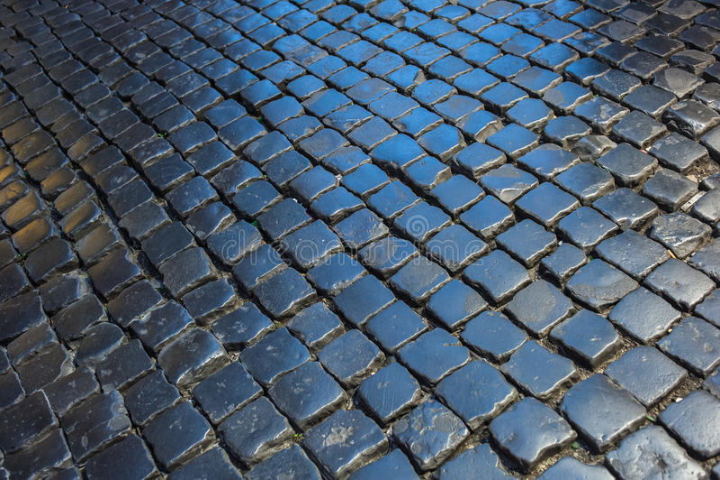 Cobblestone pavement vector illustration
