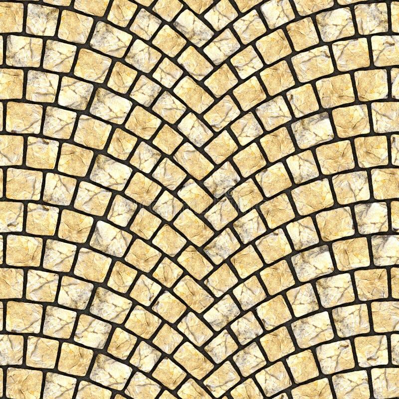Arched cobblestone pavement texture 061 vector illustration