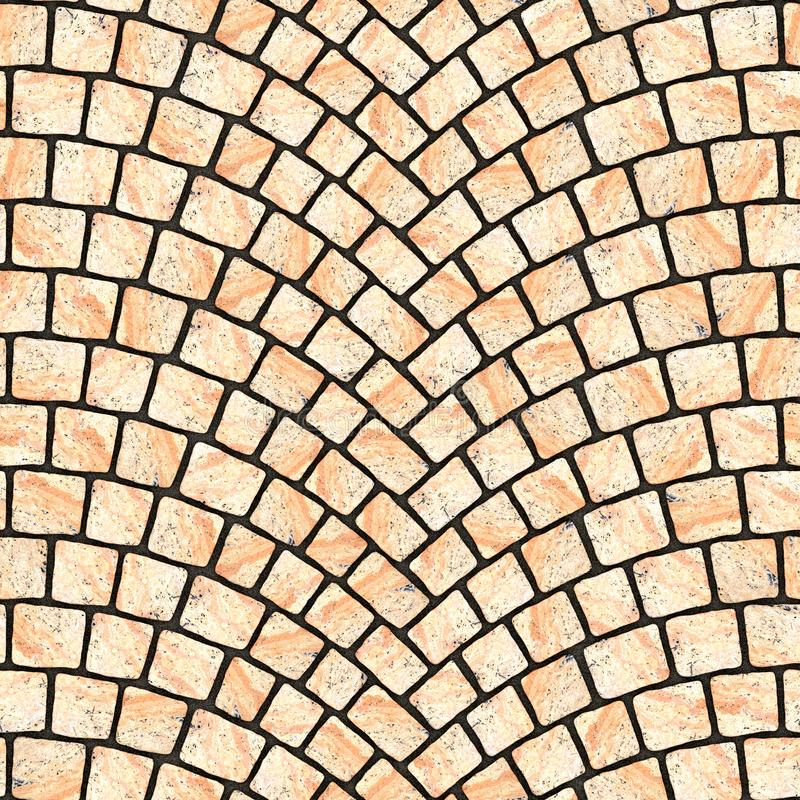 Arched cobblestone pavement texture 067 vector illustration