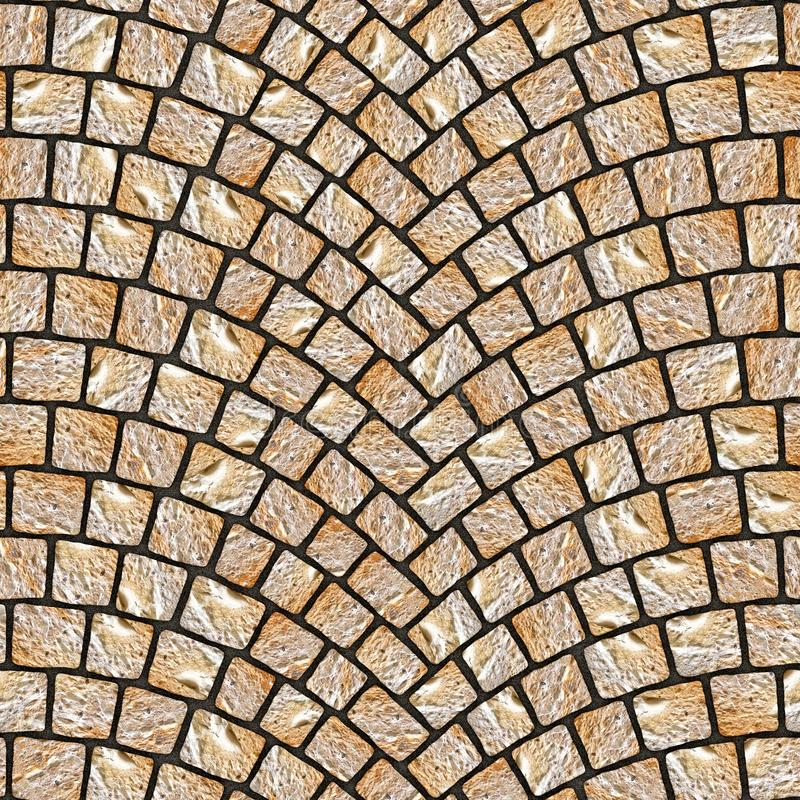 Arched cobblestone pavement texture 071 royalty free illustration