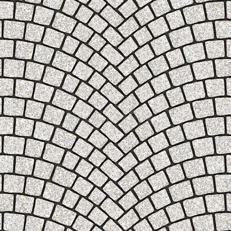 Arched cobblestone pavement texture 084 royalty free illustration