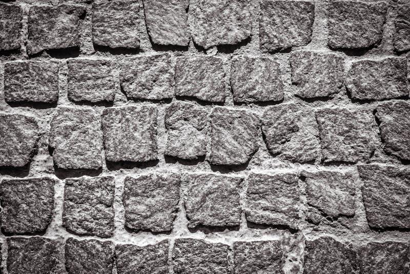 Stone Pavement Texture Black And White. Cobblestone ...