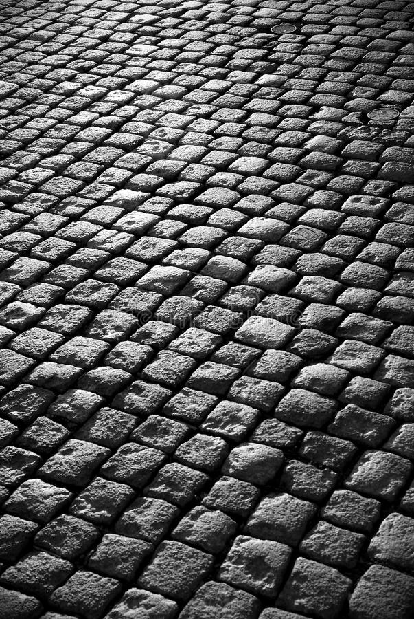 Cobblestone Road Royalty Free Stock Photography