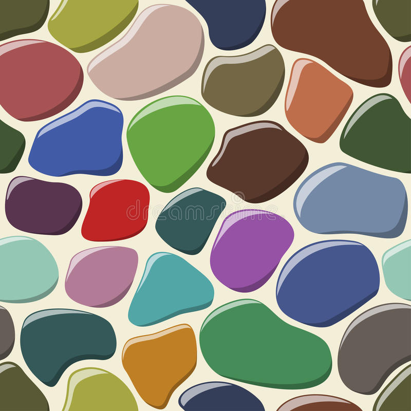 Cobblestone seamless background. vector illustration