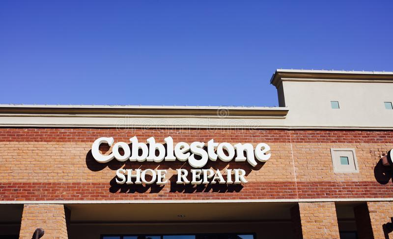 Cobblestone Shoe Repair, Memphis, TN royalty free stock photography