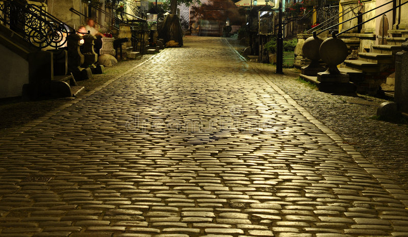 Download Cobblestone Street Stock Photo - Image: 6061240