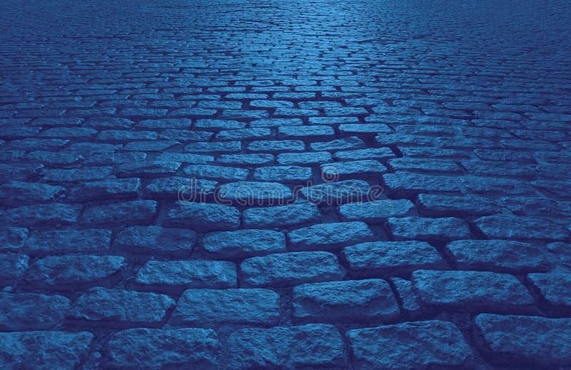 Cobblestone Street abstract tło tekstury w kolorze niebieskim obrazy royalty free