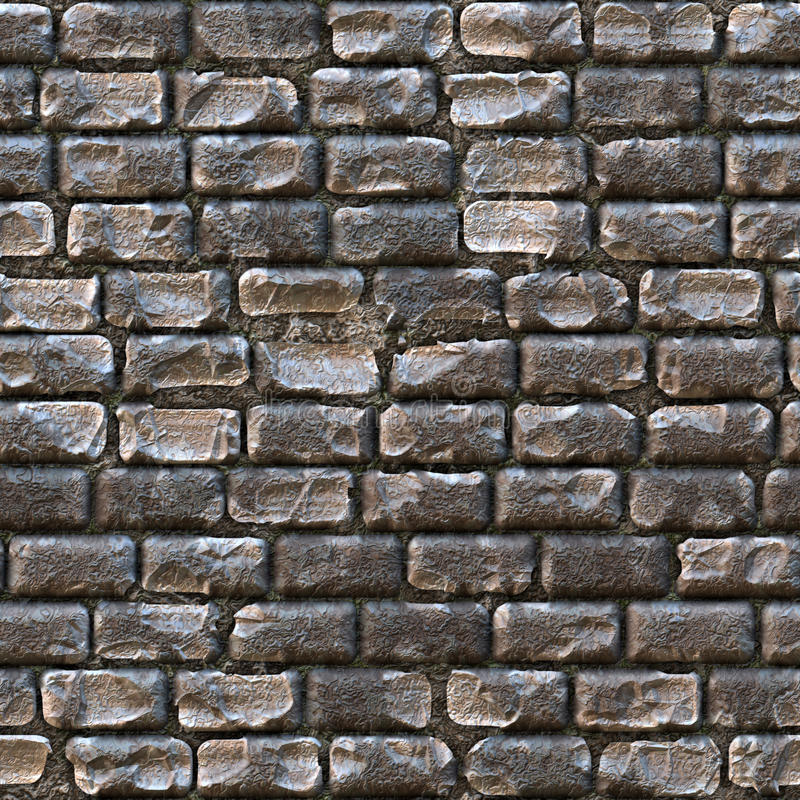 Cobblestone Texture. Seamless cobblestone path that works great for a a wall or stone pathway royalty free illustration