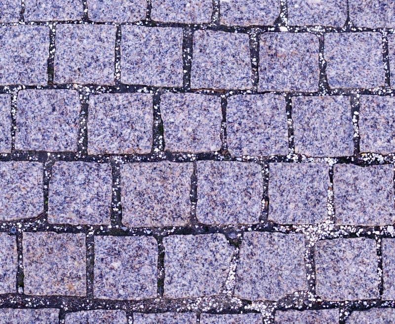 Cobblestone tiled sidewalk pavement. background, texture. Gray cobblestone tiled sidewalk pavement. background, texture royalty free stock photos