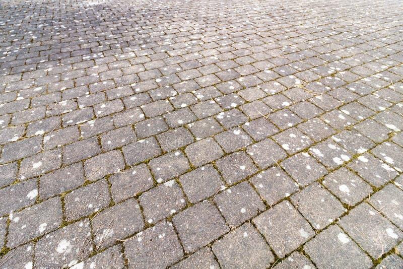 Cobblestone Walk Way. An old brick path walk way stock images