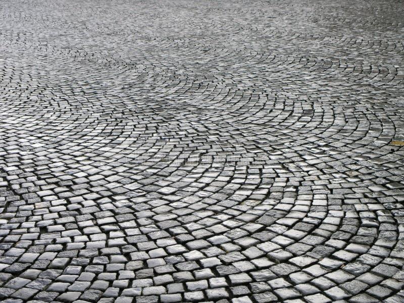 Cobblestones bagnati fotografia stock libera da diritti