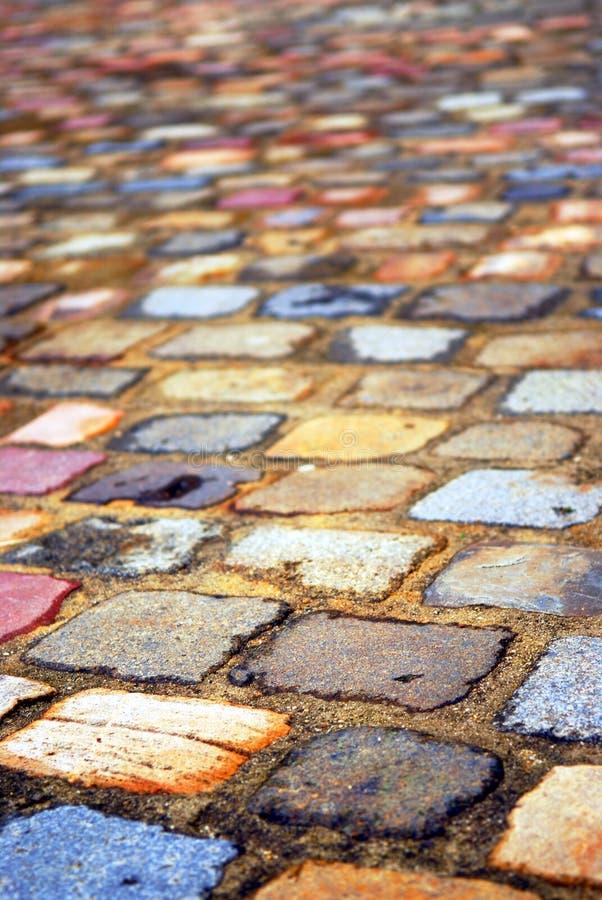 Cobblestones coloridos fotos de stock royalty free
