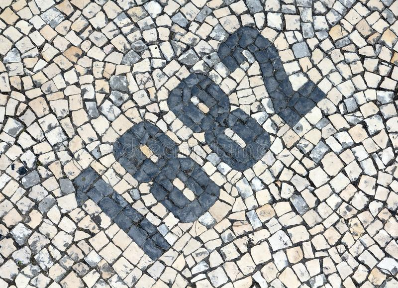 Cobblestones Number Royalty Free Stock Photography