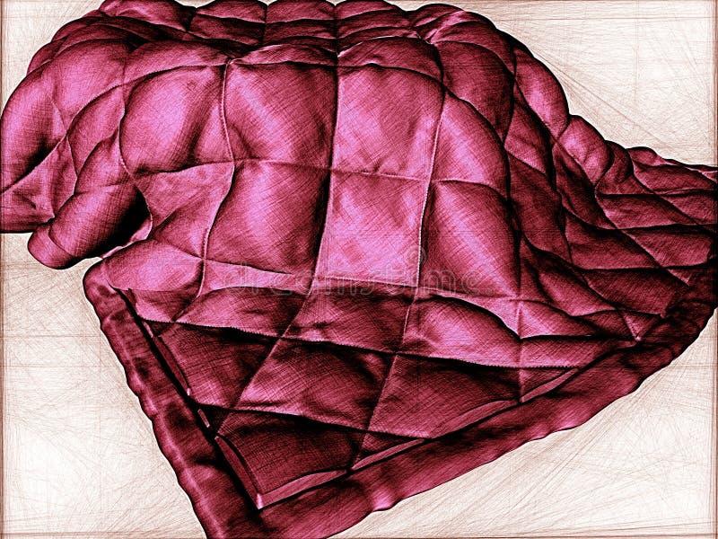 Cobertor ilustração do vetor