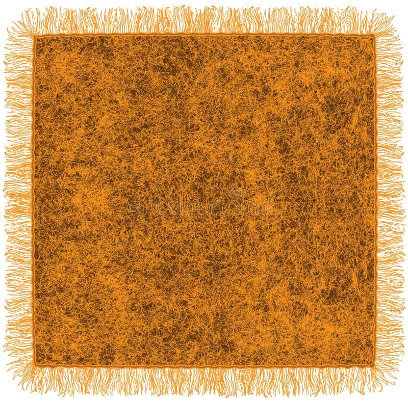 Cobertor alaranjado de lã com franja ilustração royalty free