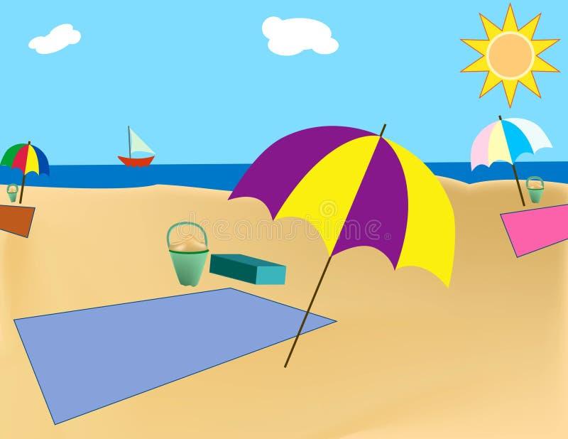 Cobertor da praia ilustração do vetor