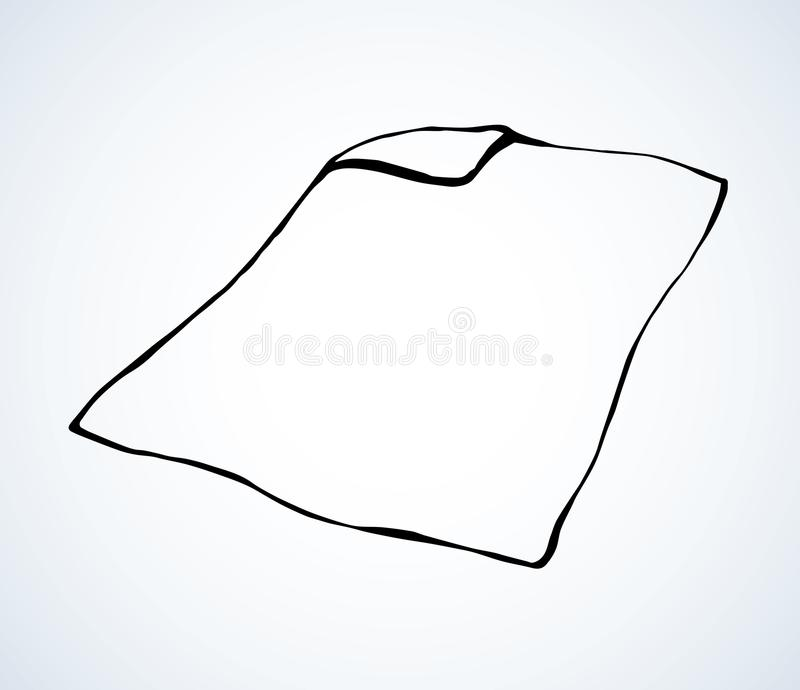 cobertor Desenho do vetor ilustração do vetor
