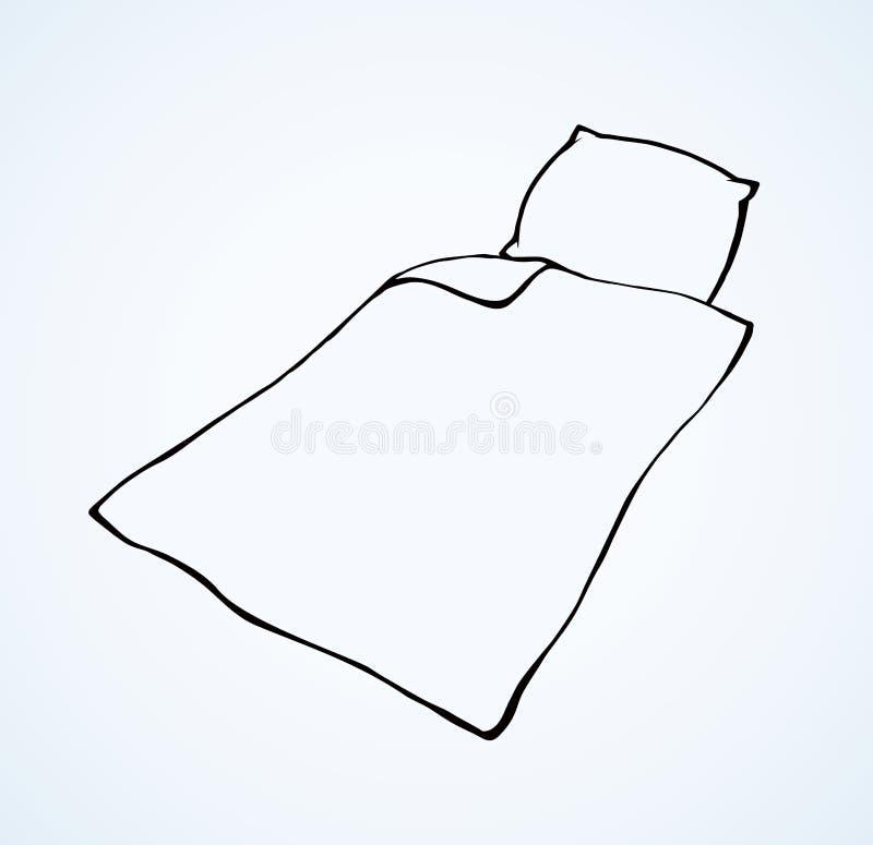 cobertor Desenho do vetor ilustração stock