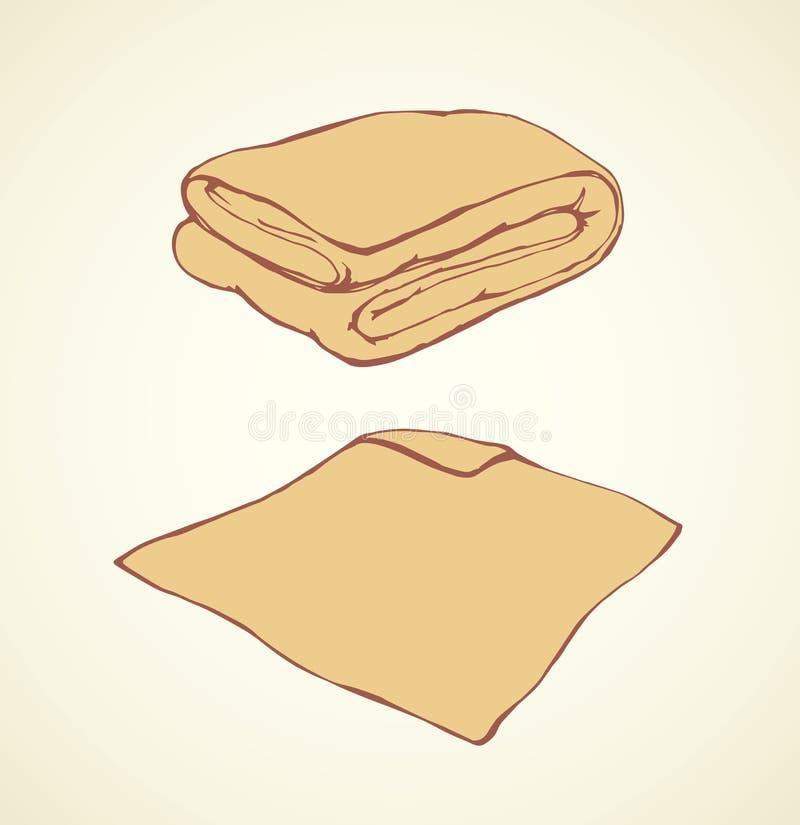 cobertor Desenho do vetor ilustração royalty free