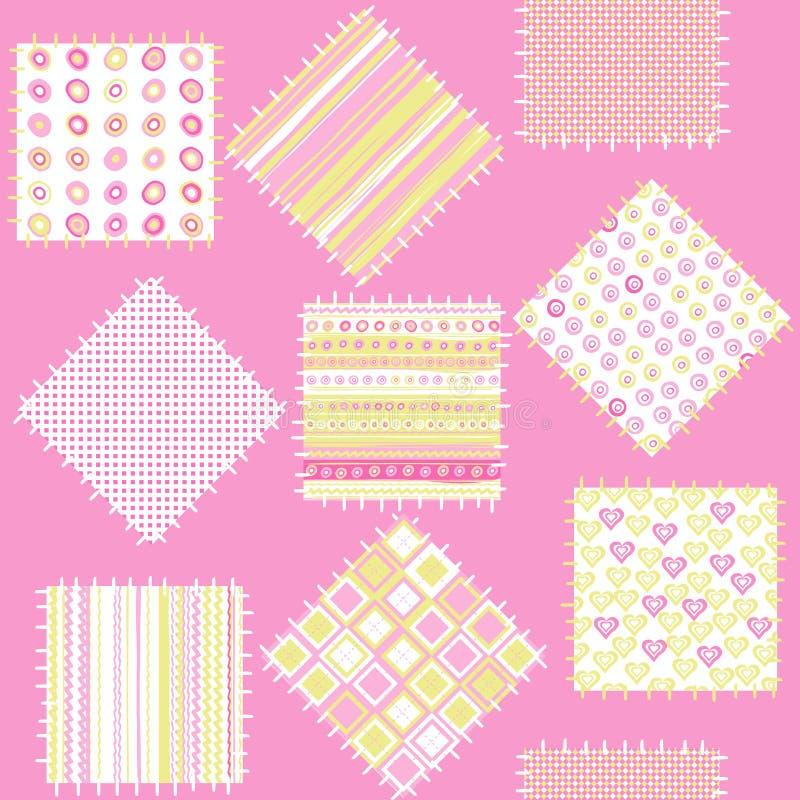 Cobertor para os bebés com correcções de programa cor-de-rosa ilustração royalty free