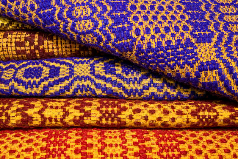 Cobertores romenos tradicionais foto de stock
