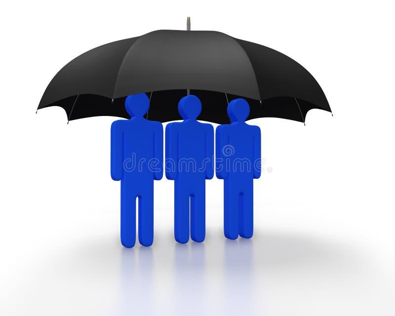Cobertura ou proteção como um conceito ilustração stock