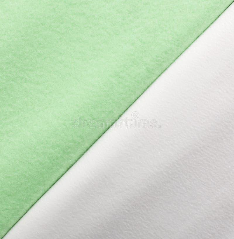 Cobertura verde e branca do velo, amostra da cor, textura da tela imagens de stock royalty free