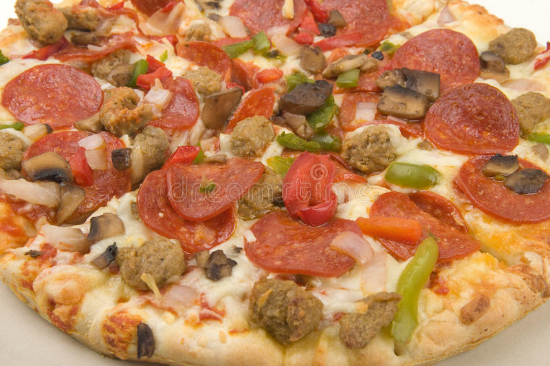 Coberturas da pizza imagens de stock royalty free