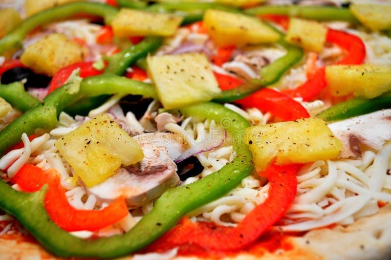 Coberturas da pizza imagem de stock royalty free