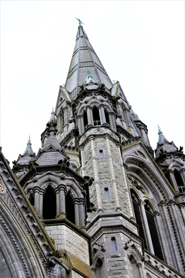 Cobh, County Cork / Ireland - August 14 2018: The cathedral of Saint Colman is a landmark having taken 47 years to complete royalty free stock photos