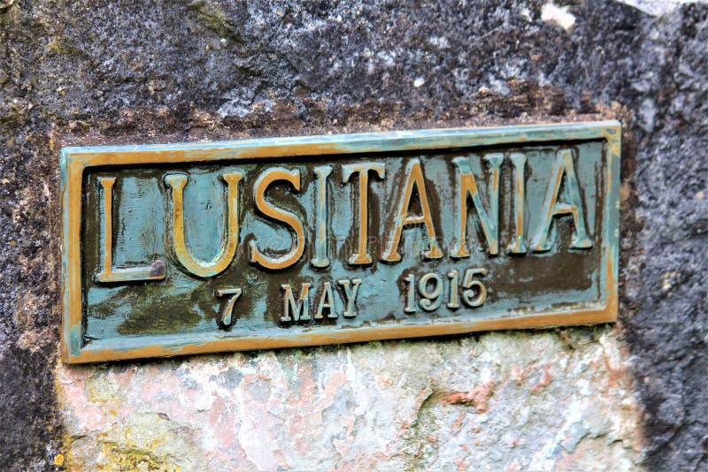 Cobh, County Cork / Ireland - August 14 2018: The Old Church Graveyard in Cobh is a landmark having a mass Lusitania grave. Cobh, County Cork / Ireland - August stock photo