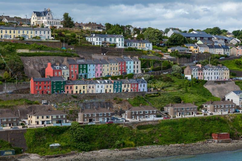 Cobh domy w okręgu administracyjnego korku Irlandia zdjęcie stock