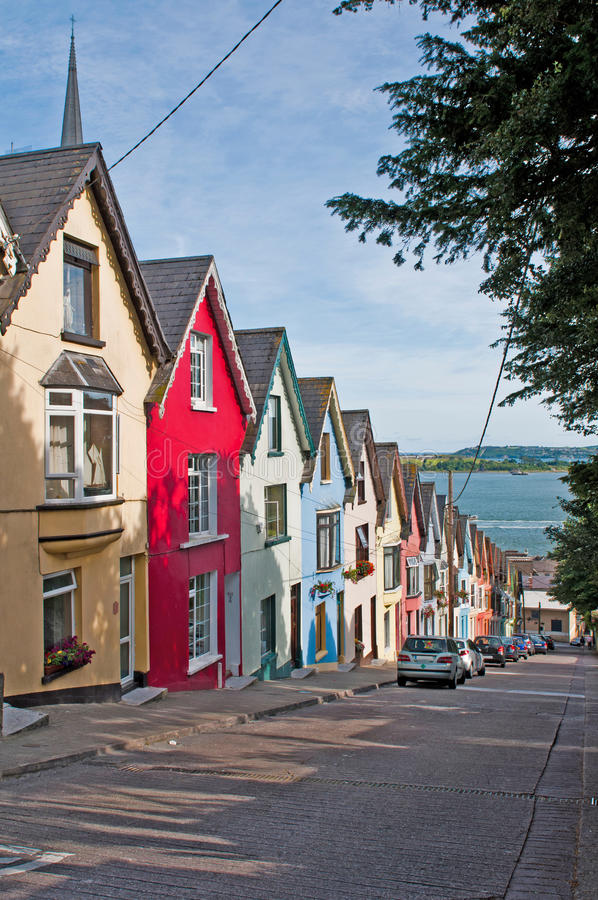 Cobh houses royalty free stock photos