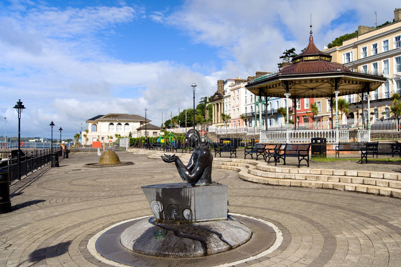Cobh Town in Ireland. Cobh town promenade in Ireland, Cork County royalty free stock photography