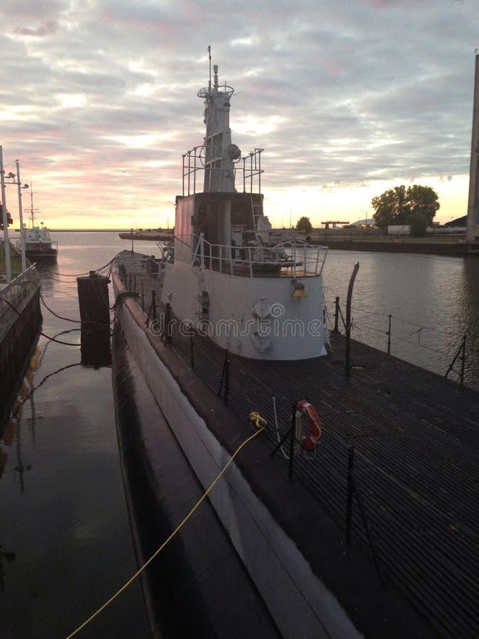 Cobia de USS en el amanecer imagen de archivo libre de regalías