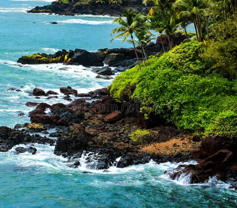Cobo De Rama, Goa fotografie stock libere da diritti
