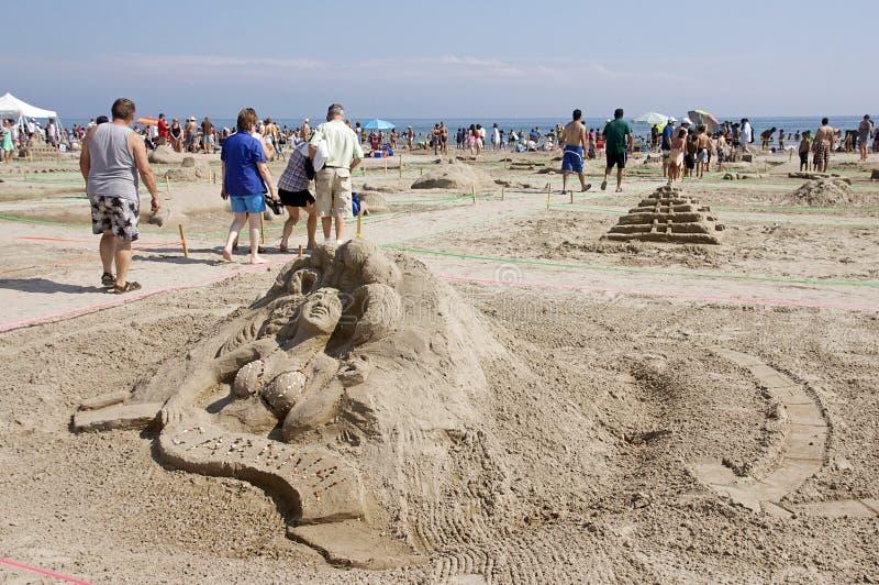 cobourg празднества ontario -го sandcastle 2011 в июле стоковые изображения rf