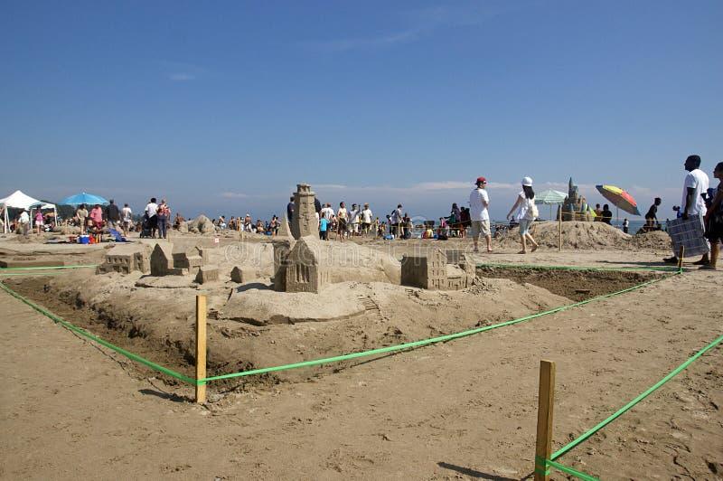 cobourg празднества ontario -го sandcastle 2011 в июле стоковая фотография