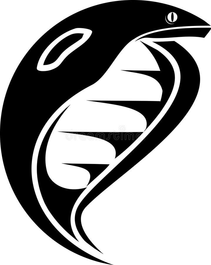 Download Cobra stock vector. Image of snake, white, tribal, reptile - 13305430