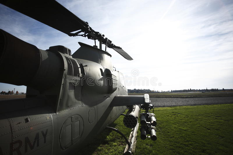 Cobra helicopter stock image