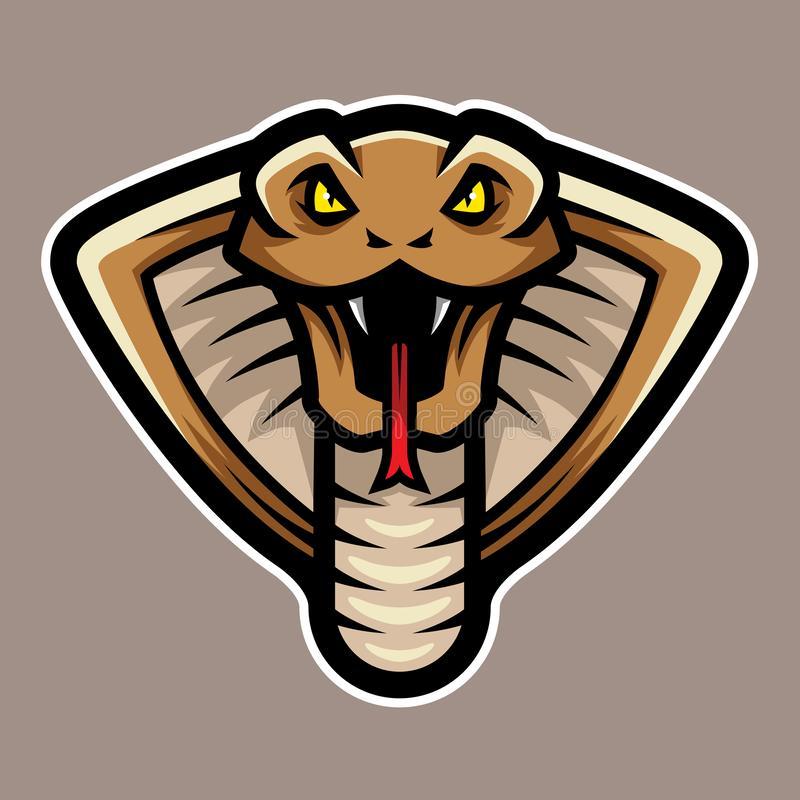 Cobra Snake Head Logo Mascot vector illustration