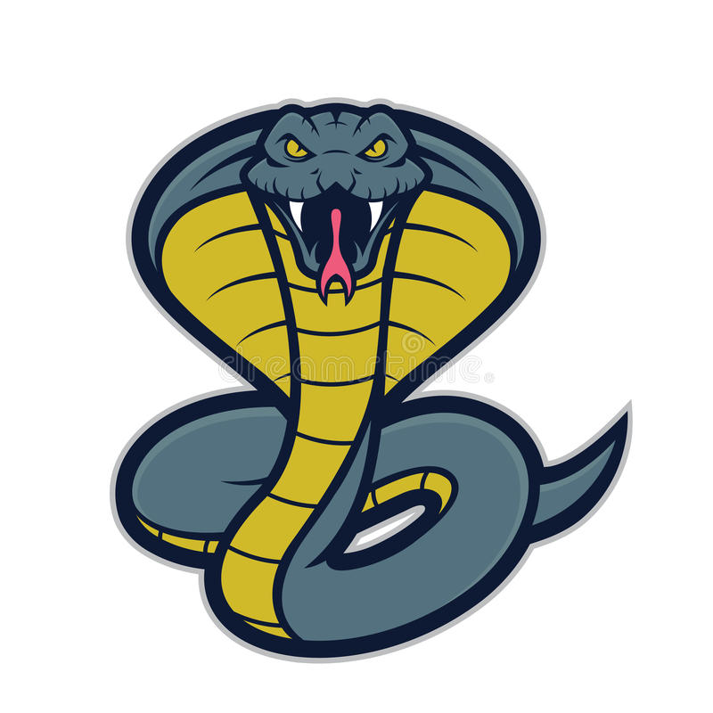 Cobra snake mascot stock vector. Image of college, rattle ...
